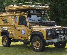1998 Defender Wolf 110 'Fifty 50 Challenge' support vehicle