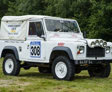 1986 Defender 90 Armed Forces Rally Team vehicle