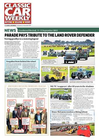 Parade pays tribute to the Land Rover Defender