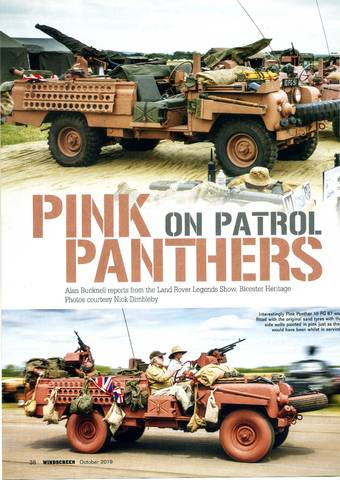 Pink Panthers on patrol