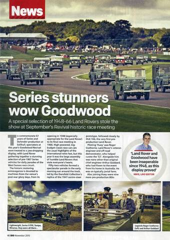 Series stunners wow Goodwood