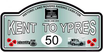 2016 Kent-Ypres Charity Land Rover Run to raise funds for The Dunsfold Collection